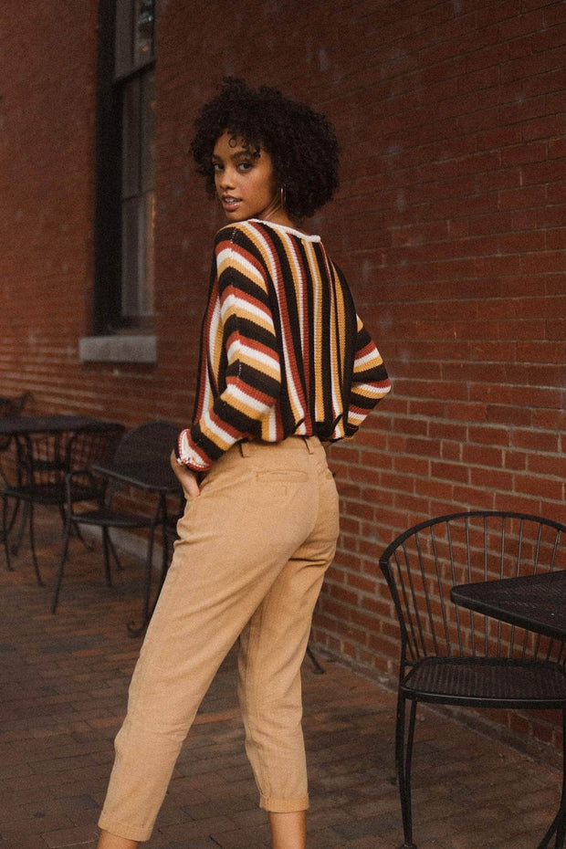 Harvest Moon Multicolor Striped Sweater - ShopPromesa