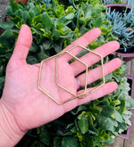 Brass Hexagon Hooplets