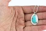 Turquoise Layered Sterling Necklace #3