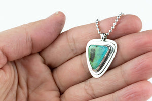 Turquoise Layered Sterling Necklace #7