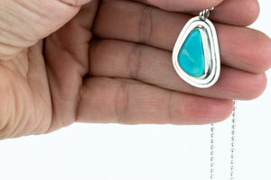 Turquoise Layered Sterling Necklace #11