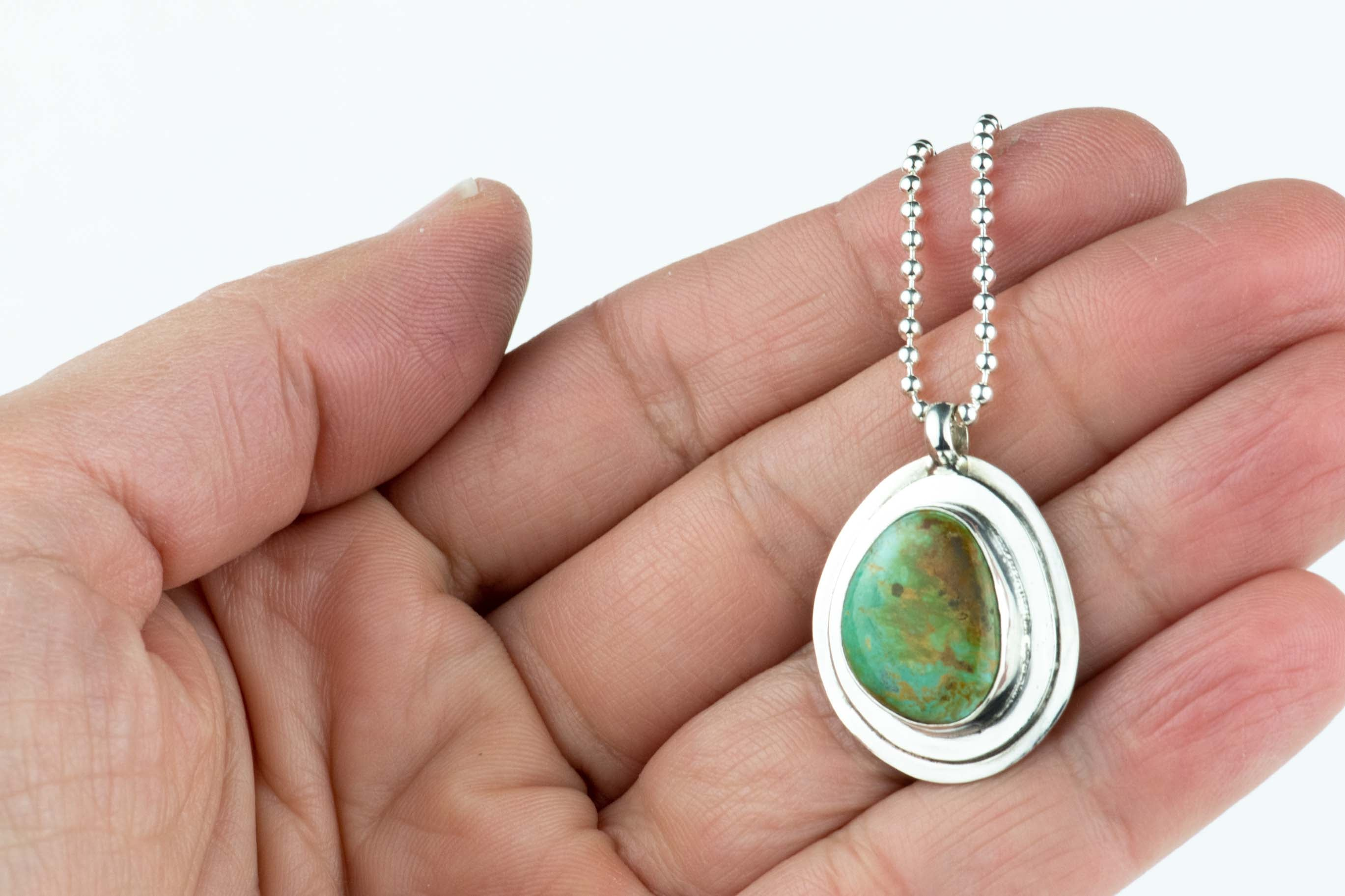 Turquoise Layered Sterling Necklace #12