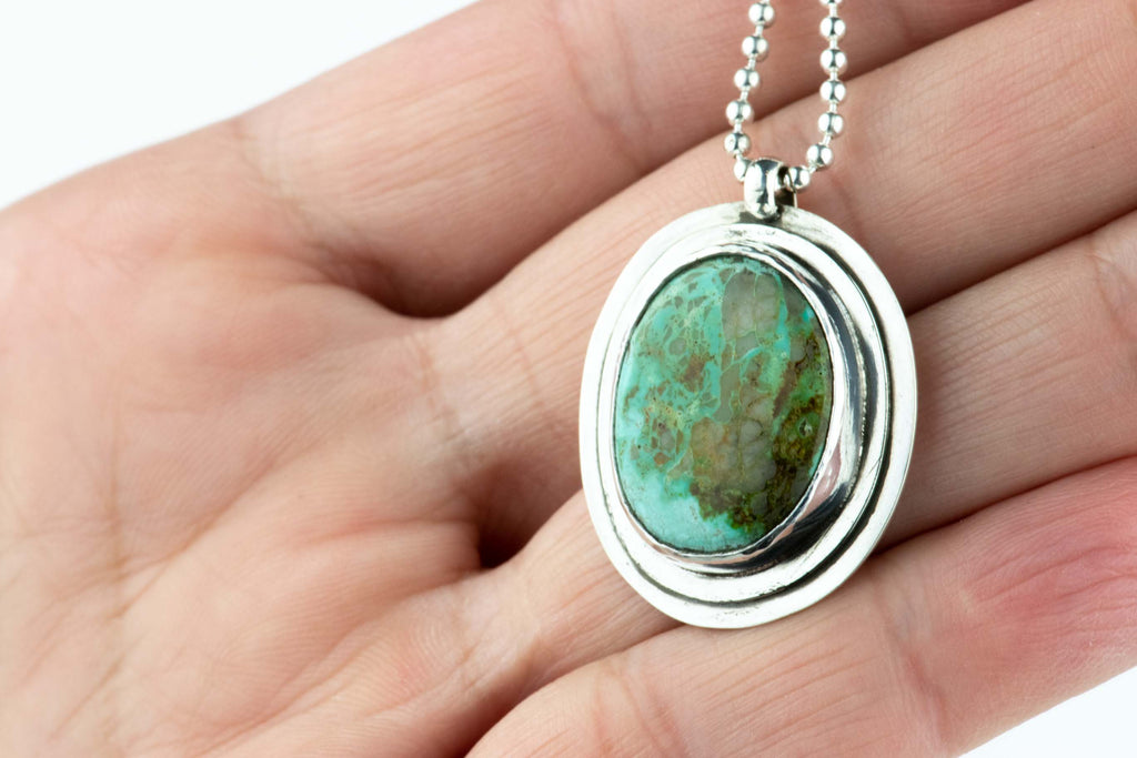 Turquoise Layered Sterling Necklace #13