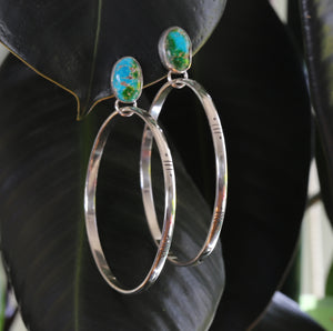 Sonoran Gold Post Hoop Earrings