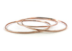 14K Rose Gold Fill Stacking Bangles