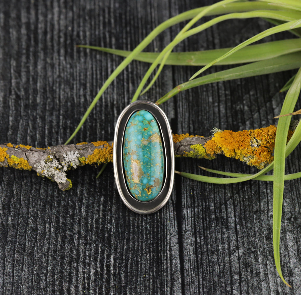 Kingman Turquoise Shadowbox Ring #10