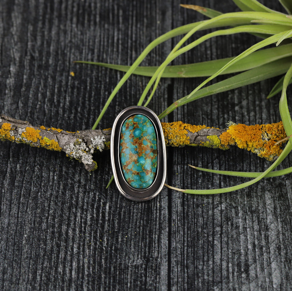 Kingman Turquoise Shadowbox Ring #3