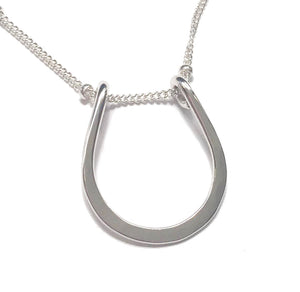 Sterling Siver Lucky Horseshoe Necklace