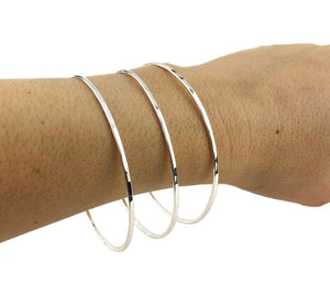 Sterling Stacking Bangles