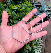 Sterling Silver Hexagon Hooplets
