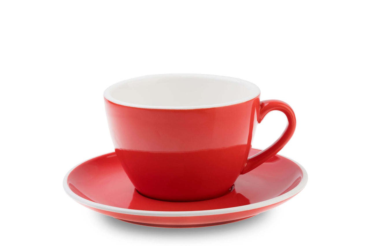 ACF 350ml Large Mug & Saucer Set RED