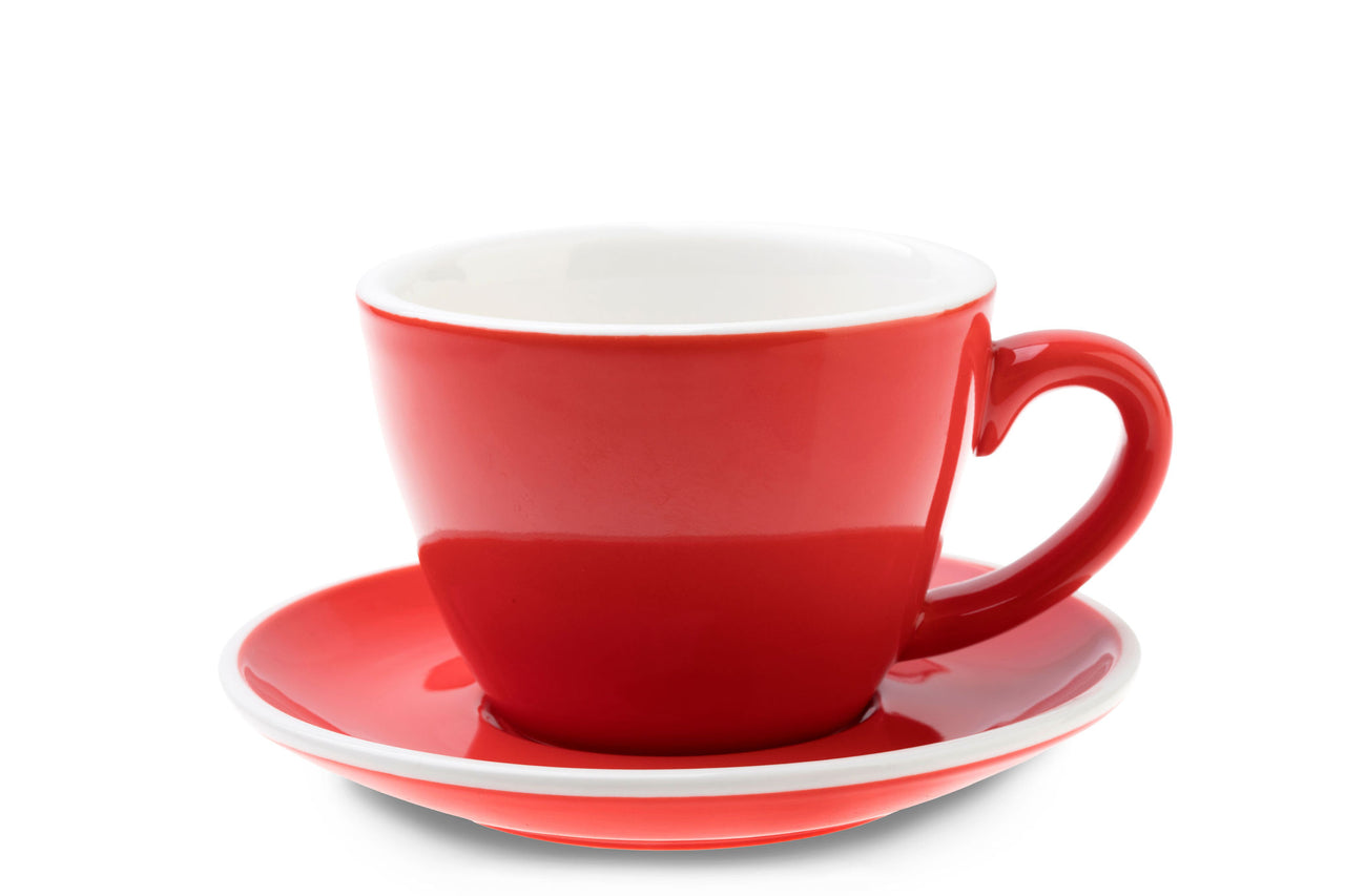 ACF 160ml Cup & Saucer Set RED