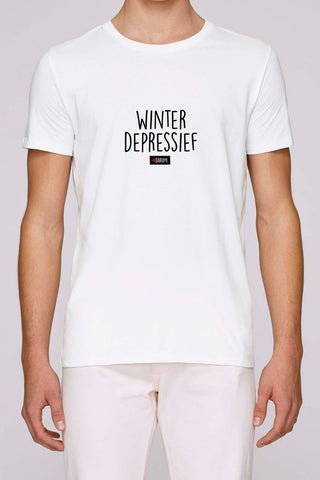 Winterdepressief - Heren T-shirt