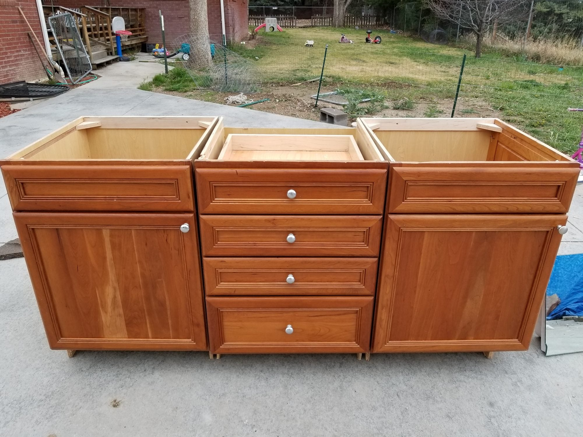 Beautiful Cherry Vanity w/ Plywood Boxes + Hardware