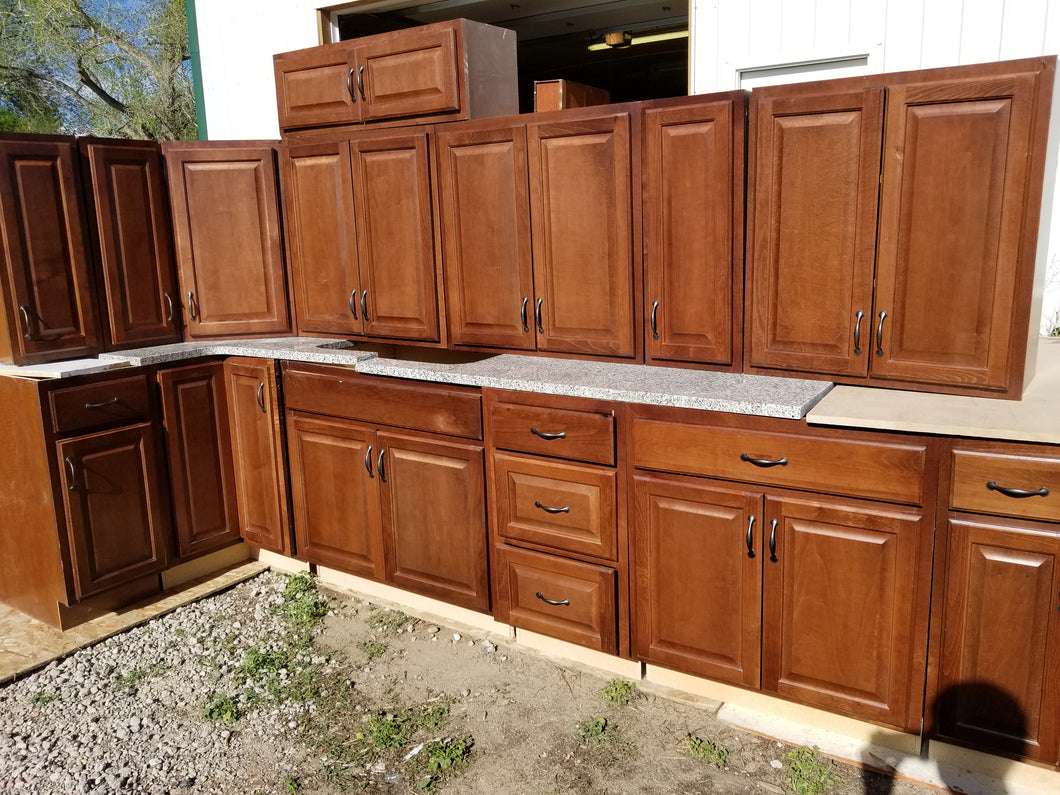 Suede Maple Kitchen w/ Lazy Susan and Granite Countertops