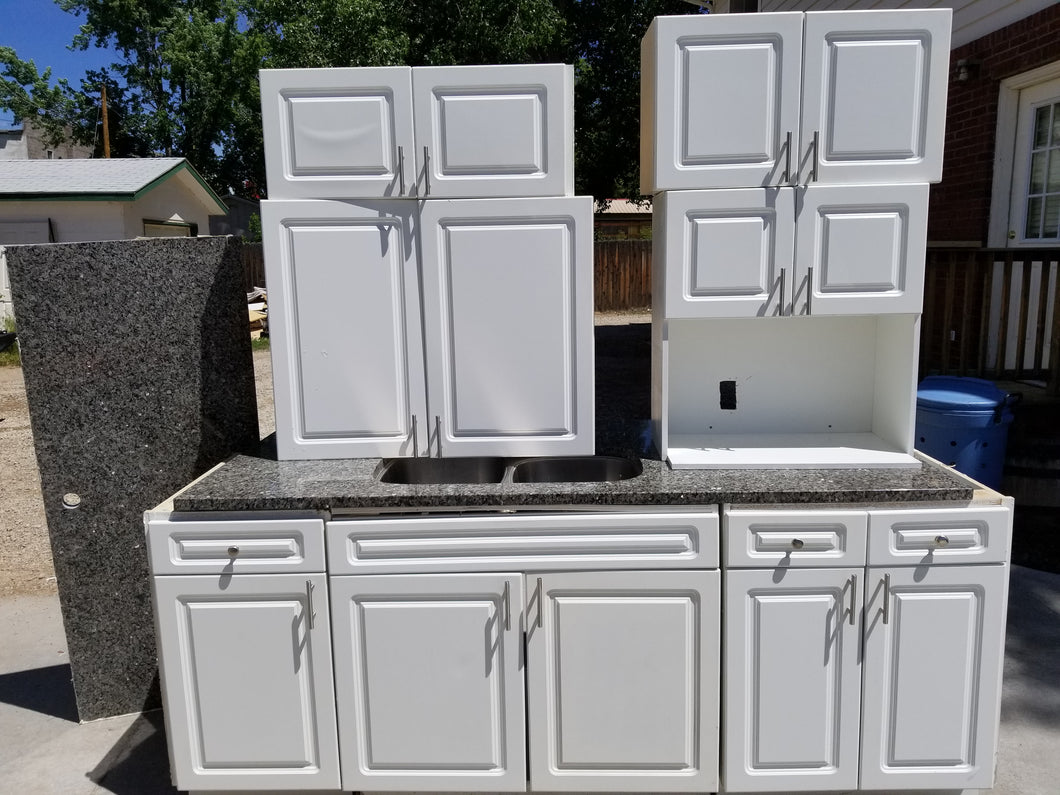 Affordable White Kitchen Cabinets w/ Granite!