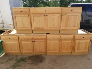 Brand New Natural Cabinets w/ Hardware
