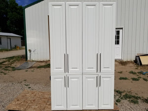 Two Matching White Pantries w/ Soft-Close Doors!