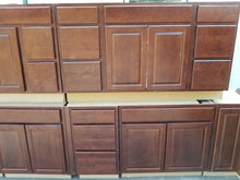 Dark Maple Kitchen Cabinet Set w/ Dovetailed Drawers and SS Appliances