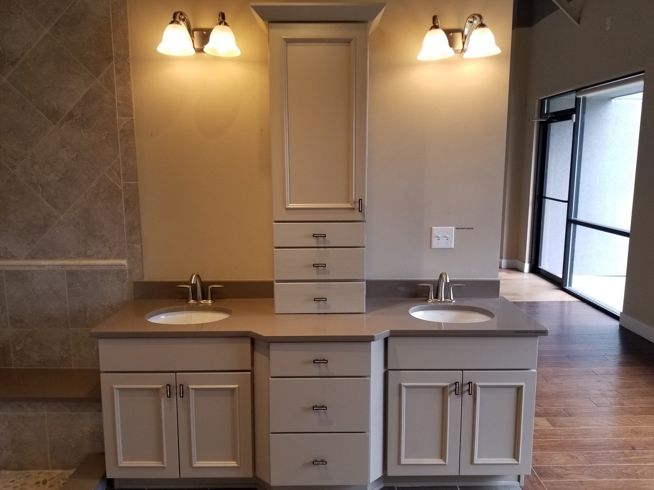 Wellborn Showroom Vanity with Dovetailed Drawers and Hardware