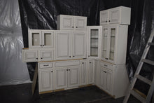 Antiqued White Kitchen Cabinets with Softclose Drawers - Retails for $6,000