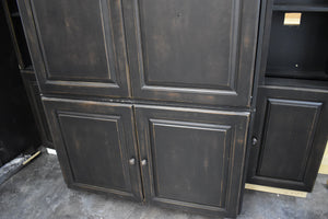 White Apartment Cabinet Set w/ Silver Hardware