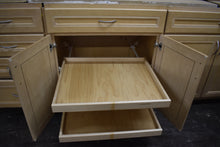Gigantic Glazed Maple Kitchen Cabinet Set w/ Plywood Boxes and Glass Doors