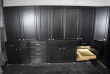 Huge Like-New Mocha Kitchen Cabinet Set w/ Dovetailed Drawers and Rollout Trays