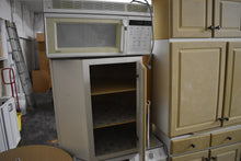 Like/New Showroom Distressed Brown/Grey Kitchen Cabinet Set w/ Metal Lazy Susan Pullout and Under Cabinet Lighting