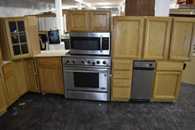 Large Oak Merillat Kitchen with Trash-can Pullout and Appliance Garage