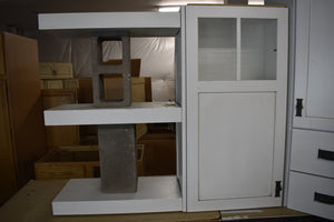Contrasting Showroom White/Silas Grey Kitchen Cabinet Set w/ Knocker Handles and Plywood Boxes