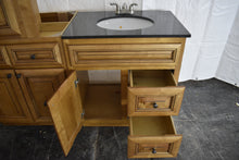 Frameless Glazed Caramel Maple Kitchen Cabinet Set with Plywood Boxes