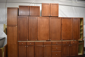 Shaker Maple Kitchen Cabinet Set w/ Cherry Finish and Dovetailed Drawers