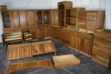 Gigantic Cherry Kitchen w/ Plywood Boxes, Roll-out Trays, Dovetailed Drawers, and Glass Doors