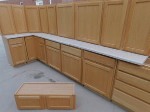 Kitchen Cabinet Set w/ Lazy Susan and Counters