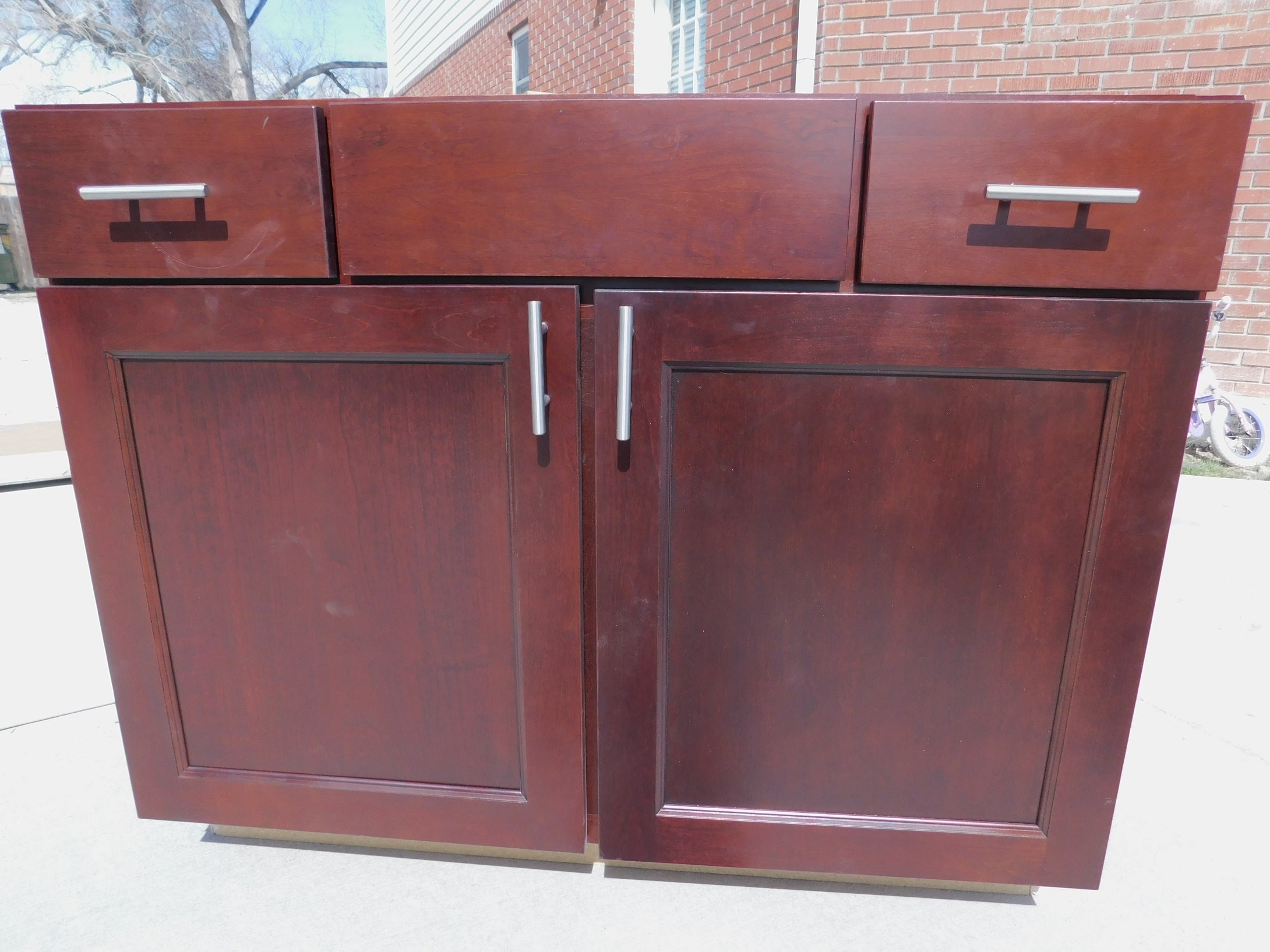 BRAND New Dovetailed/ Soft Close Cherry Bathroom Vanity