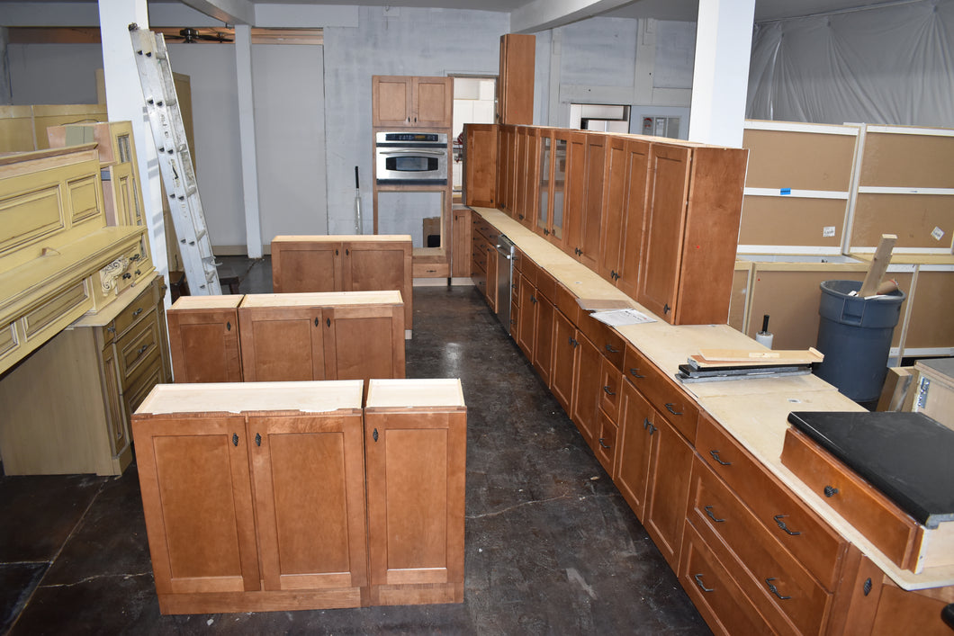 Gigantic Shaker Maple Kitchen Cabinet Set w/ Rollout Trays and Dovetailed Drawers