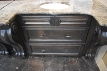 "Antiqued Distressed Glazed His/Hers Bathroom Vanities with Softclose Drawers and 3/4"" Plywood Boxes"