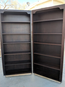 TWO Matching Dark Bookshelves for YOUR Home!-$195