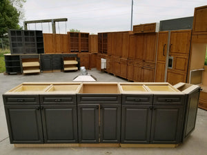 MASSIVE Knotty Alder + Slate Kitchen w/ Dovetailed Pullouts + Glass Fronted Uppers!