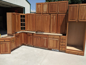 Beautiful Cherry Kitchen Cabinets w/ Pullouts + Granite Counters