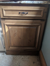 Knotty Alder Bar w/ Wine Refrigerator and Soft Close Dovetailed Drawers