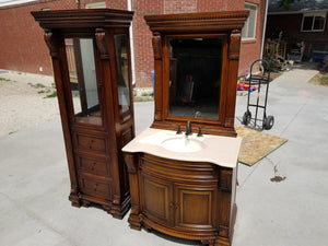 Showroom Bathroom Vanity + Linen Closet Cabinet w/ High-End Features