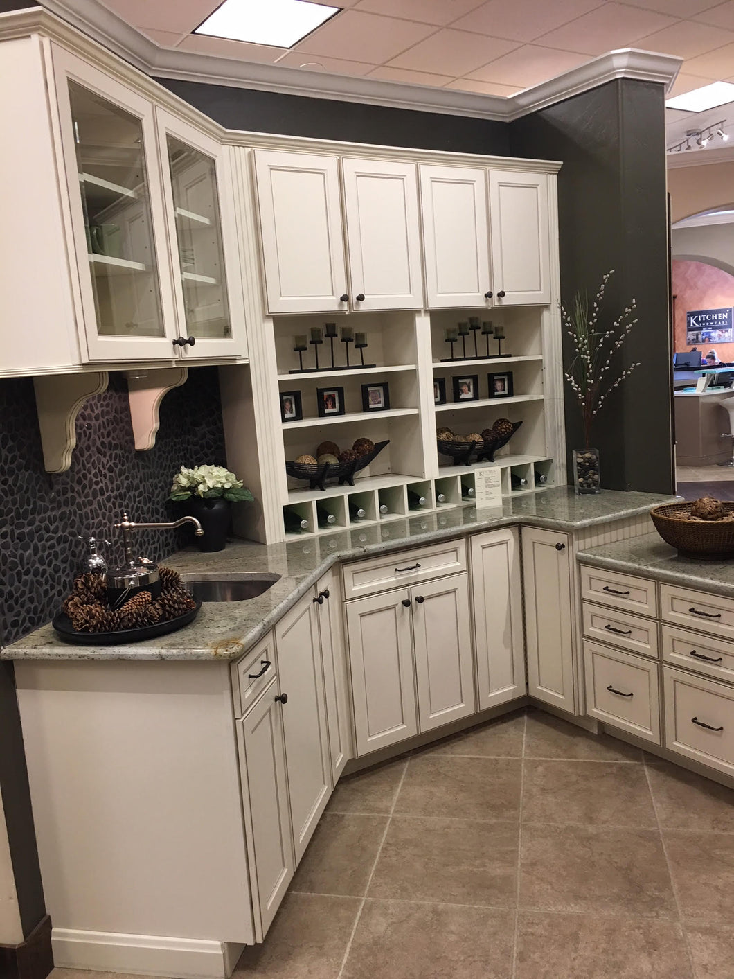 AMAZING Small White Kitchen w/ Glass Fronted & Extra Tall Uppers!