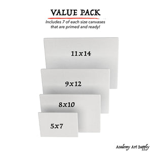 Academy Art Supply - Canvas Panel Variety Pack - 5
