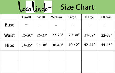 High Waisted Vintage Shorts Size Chart