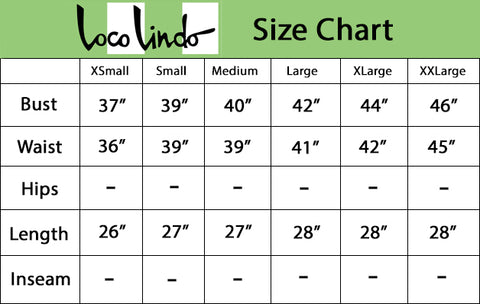 Camp Shirt Size Chart - Solid Print