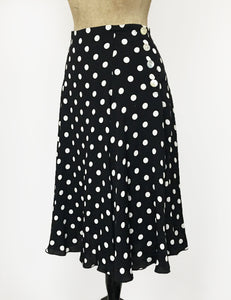 Black & White Big Dot Venice Beach Balboa Circle Swing Skirt