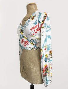 Doris Mayday for Loco Lindo - Vegas Baby Babaloo Wrap Top