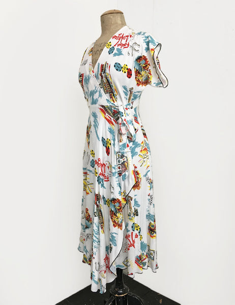 Doris Mayday for Loco Lindo - Vegas Baby Cascade Wrap Dress
